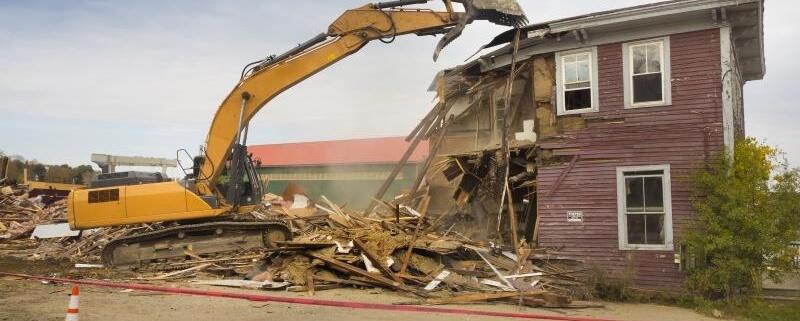 Coût de démolition d'une maison au m²