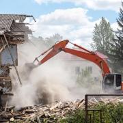 Sécuriser un tractopelle pendant une démolition