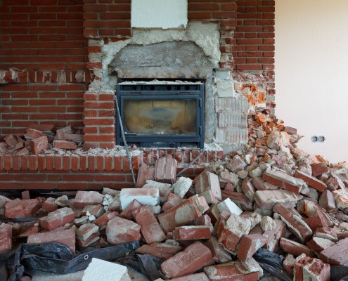 Coût de démolition d'une cheminée
