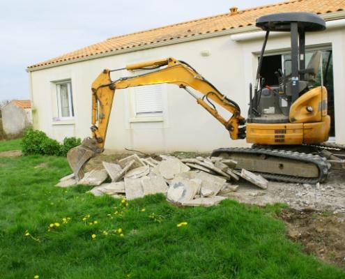 Coût de démolition d'une terrasse en béton