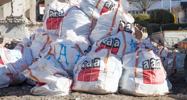 Budget à prévoir pour l'évacuation de déchets en fibrociment amiante
